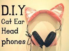DIY cat ear head phones