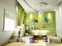 Fun bedroom for kids with loft~