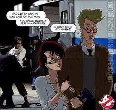 Real Ghostbusters - He Ain't Human by noelzzz on DeviantArt Original Ghostbusters, The Real Ghostbusters, Janine Melnitz, Classic Cartoons, Funny Images, Childhood, Ships