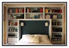 this is cool King Bookcase Headboard Plans