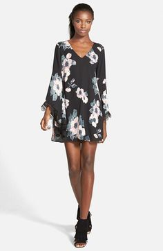 ASTR ASTR Lace Trim Shift Dress available at #Nordstrom