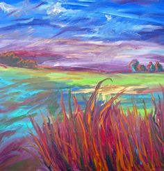 """Lorie McCown Paint acrylic on canvas,  Breath of Evening"""""""
