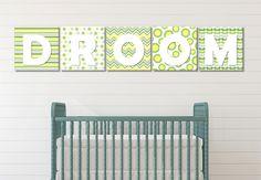 Colour Blocks - Lemon & Lime - Wall Print Decor Art