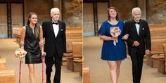 Dying father, Fred Evans, walks daughters, (From left) Gracie & Kate down the aisle before cancer claims him