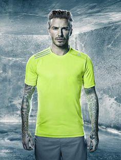 David Beckham con la nueva indumentaria #Climachill de Adidas http://www.bonsportant.com/indumentarias-de-baja-temperatura/
