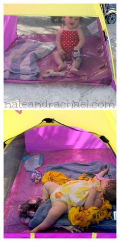 Baby beach tent--tips for taking baby to the beach