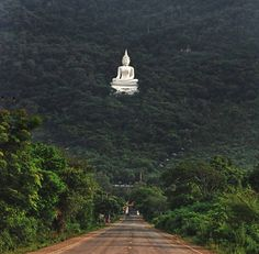 Buddha Statue in Forest Pak Chong, Thailand — with Yongyut Jumpapo.
