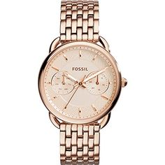 Fossil Womens ES3713 Tailor Multifunction Rose GoldTone Stainless Steel Watch * To view further for this item, visit the image link. Note: It's an affiliate link to Amazon