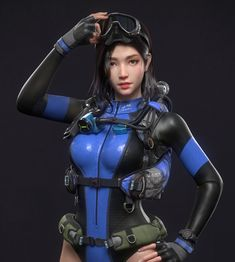 This is the first time we have published our student work on the zbrush forum, thanks to powerful zbrush. Mode Latex, Diving Suit, Scuba Girl, Womens Wetsuit, Fantasy Girl, Sexy, Samurai, Character Design, Wonder Woman