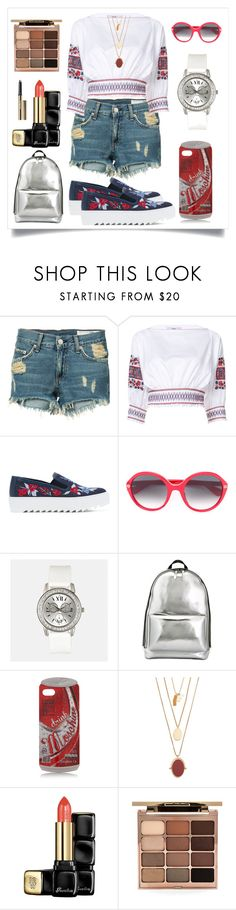 """""""Floral Embroidery Blouse..**"""" by yagna ❤ liked on Polyvore featuring rag & bone/JEAN, TIBI, Salvatore Ferragamo, Gucci, Avenue, 3.1 Phillip Lim, Moschino, Madewell, Guerlain and Stila"""