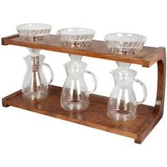Triple pour-over coffee stand. It's a work of art that makes coffee. I can't think of anything more wonderful.