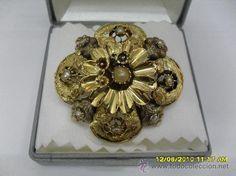 BROCHE ANTIGUO ORO DE LEY 18K (Antigüedades - Joyería - Broches Antiguos)
