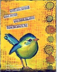 I used Dina Wakley, Dylusions and Tim Holtz supplies on this card.