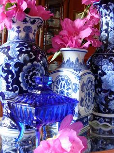 The Pink Pagoda: Blue and White Monday Add Pink
