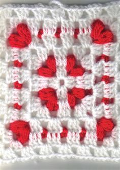 [Video Tutorial] So Much Awesomeness In One Little 6 Inch Cornered Hearts Square, perfect for Valentine's Day crochet