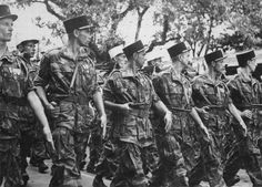 ... 1954: Paratroopers of the French Foreign Legion parade through the streets of Hanoi, two months after their compatriots surrendered at Dien Bien Phu ...
