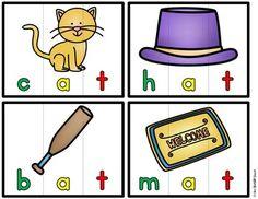 CVC Puzzles {Phoneme Segmentation}