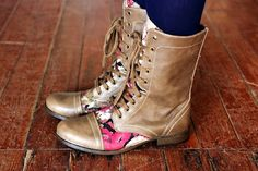 DIY Floral boots using modge podge. So simple, and so many possibilities!