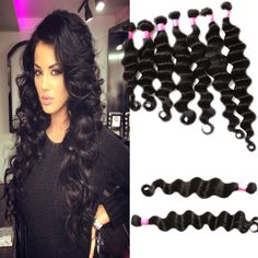"""10""""-30"""" Grade 6A DEEP wave long MALAYSIAN virgin hair extensions hair black HOT #NaturalColor #NaturalColor"""