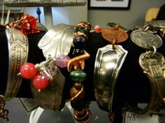 Silverware Bracelets - We have a variety of bracelets repurposed from vintage silverware.  Each one is unique and a true one of a kind! - $Prices Vary