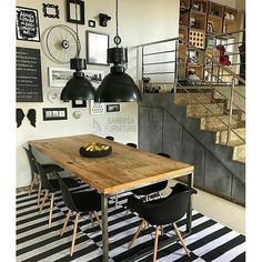 Good Looking Artistic Brick Wall Design for Your Home - YaQueen Vintage Industrial Decor, Industrial House, Kitchen Dining, Kitchen Decor, Sweet Home, Dinner Room, Home And Deco, Home Interior Design, Home Furniture