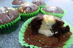 Schokoladen-Käsekuchen-Muffins    Chocolate-Cheesecake Muffins