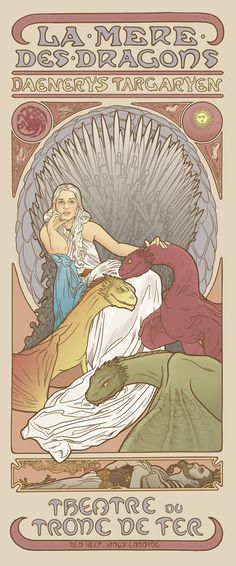 She looks so wistful. And Drogo on the bottom is heartbreaking. Mother of dragons Art Print
