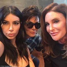 'The parent trap': Kris and Caitlyn Jenner posed for their first publicized photo together...
