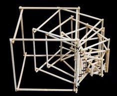 Interaktives Design, Cube Design, Geometric Origami, Geometric Shapes, Concept Models Architecture, Architecture Design, Arch Model, Bottle Art, Wood Art