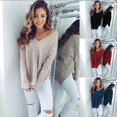 Ladies V Neck Long Sleeve Pullover  http://frizbuy.com/products/2017-new-fashion-autumn-winter-women-ladies-v-neck-long-sleeve-pullover-loose-knitted-soild-color-sweater-tops?utm_campaign=crowdfire&utm_content=crowdfire&utm_medium=social&utm_source=pinterest  #mileycyrus #miley #cyrus #mileyraycyrus #hannahmontana #hannah #montana #disney #pretty #disney #beautiful #loveher #smile #instagood #instamiley #instacyrus #photooftheday #pop #music #breakout #cantbetamed