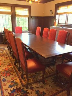 Client Spotlight: Reupholstered Vintage Sheepbone Chairs - Letters from EuroLux Reupholster Dining Room Chairs, Red Dining Chairs, Antique Dining Tables, Furniture Chairs, Furniture Makeover, Antique Furniture, Furniture Decor, Traditional Dining Room Furniture, Conference Room Chairs