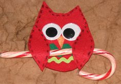 Ink Stains: Owl Candy Cane Holder
