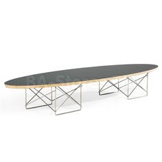 Surf Elliptical Coffee Table in Black by Aeon