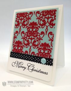 You can always count on Mary Fish to create something very different. Candlelight Christmas Designer Series Paper, Greetings of the Season stamp set.