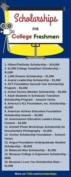 College #freshmen! Here is a selection of #scholarships for you! #collegehacks Scholarships For College Freshmen, Grants For College, Financial Aid For College, College Planning, Online College, Education College, Freshman, College Tips, College Checklist