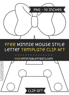 Free Minnie Mouse Style Letter B Template  Clipart  Minnie Mouse