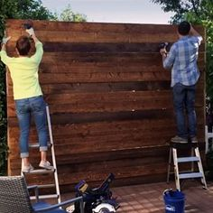Build a privacy wall to keep your backyard cozy and quiet. | 11 Simple Summer Projects Anyone Can Build In Their Backyard