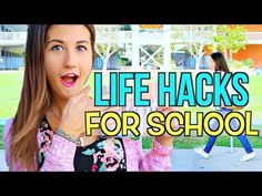 Back To School: DIY Life Hacks For School! - YouTube I might use this for this year. Man it's crazy that in 1day I'll be in middle school. So excited.