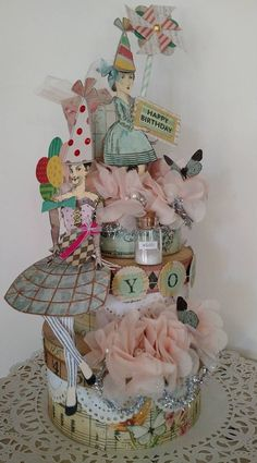 Birthday Cake by Brenda Enright, constructed with stamps from Character Constructions.