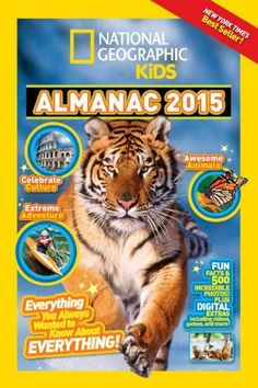 National Geographic Kids Almanac 2015, Canadian Edition by National Geographic Kids, A great way for kids to learn about nature and animals, this edition has special Canadian sections as well.