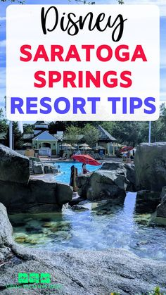 Disney Saratoga Springs Resort tips. Planning a Disney World trip in Orlando Florida? Saratoga Springs is a great onsite hotel! Find out some great travel advice with these 10 tips. Includes the one place you should book your stay to save money, if a preferred view room is worth it, what to bring from home, the one restaurant you can't miss at Disney Springs Saratoga Springs Disney, Saratoga Springs Resort, Springs Resort And Spa, Disney Springs, Disney World Hotels, Walt Disney World Vacations, Disney World Resorts, Vacation Club, Vacation Deals
