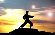 Karate rozpoczyna się i kończy ukłonem Karate, Silhouette, Sports, King, Hs Sports, Sport, Silhouettes