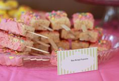 Rice Krispie Treat Popsicles at a Ice Cream Shoppe Party #icecream #party