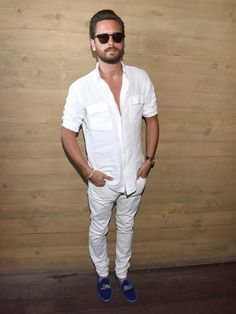 Scott Disick Did All-White Weekend Style Pretty Damn Well