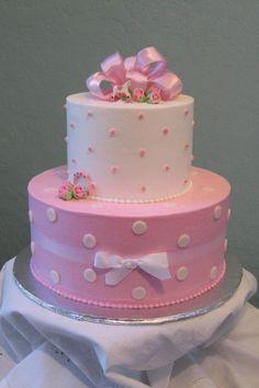 Bolo com laço perolado - Sweet cake