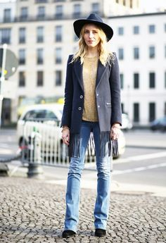 Boot and Jeans Combinations for Fall via @WhoWhatWear