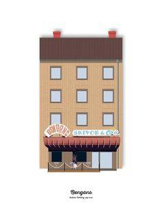 Bengans 30x40. Design: Pop-in via Pop-in Local graphics #architecture #gothenburg