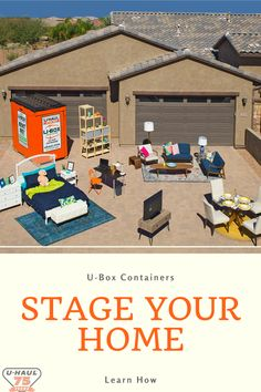 Staging your home is easy with the help of U-Box containers as temporary storage. Learn how you can use them to keep belongings safe and make more space in your home.