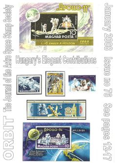 Orbit issue 76 (January 2008) ORBIT is the official quarterly publication of The Astro Space Stamp Society, full of illustrations and informative space stamp and space cover articles, postal auctions, space news, and a new issues guide.