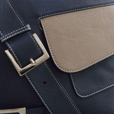 MarteMOdena M-thrice messenger bag Blue/Beige